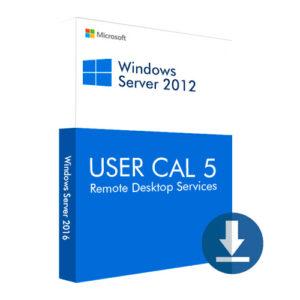 Windows Server 2012 USER CAL 5