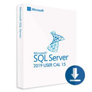 SQL Server 2019 User CAL 15